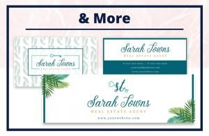 The Sarah Collection - Business Card - Real Estate Branding Bundle for Women