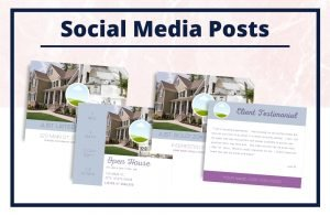 The Lizzie Collection - Social Media Posts - Real Estate Branding Bundle for Women