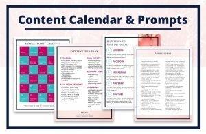 Complete Social Media Resource Guide for Realtors - Content Calendar & Prompts